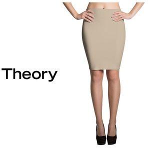 Theory Tan Stretch Pencil ✏️ Skirt Size 2